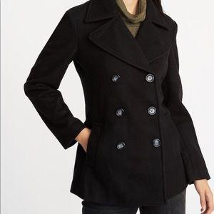 BLACK Soft-Brushed Peacoat for Women